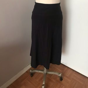 New Women's Faux Suede Black Skirt Size XL